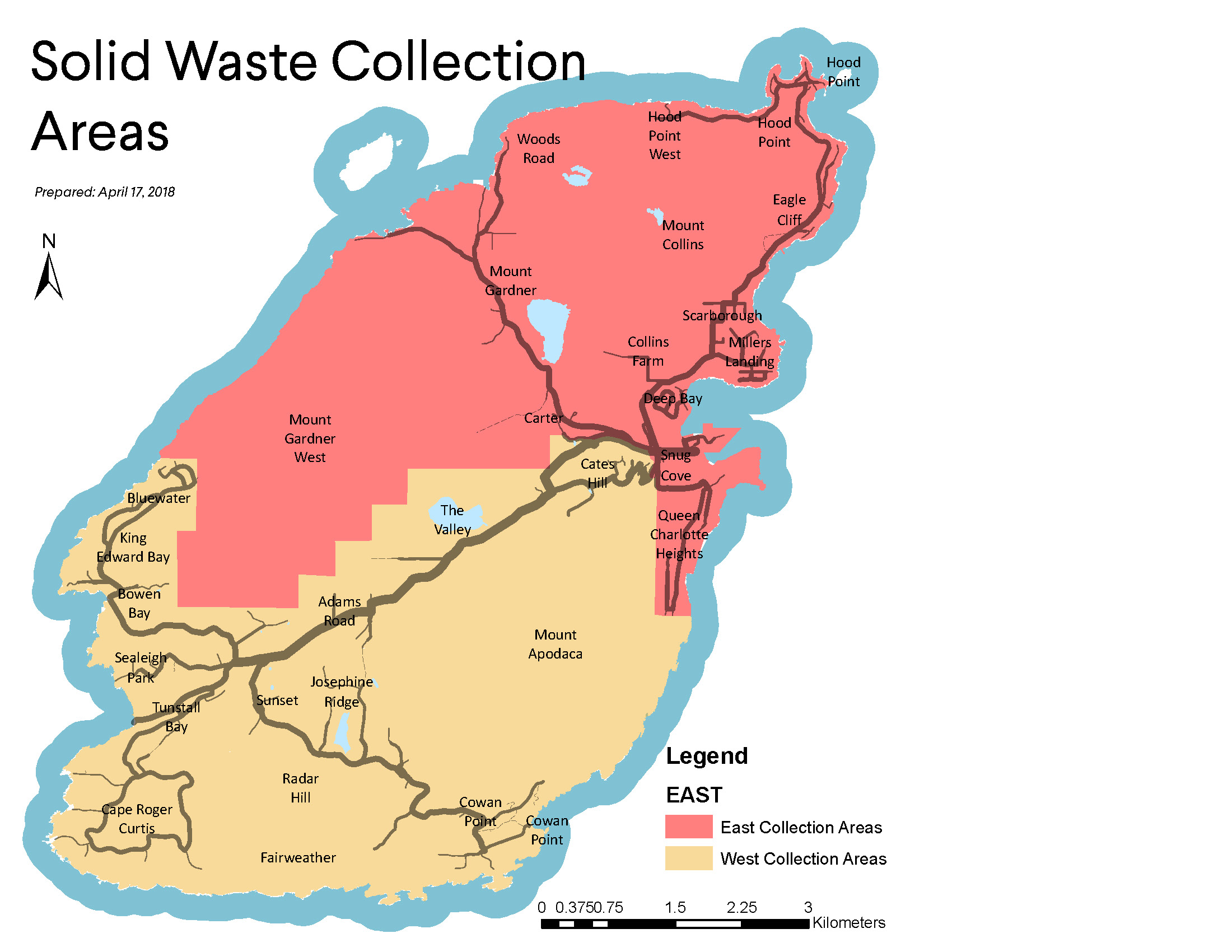 Garbage Collection Map. Download a PDF below.
