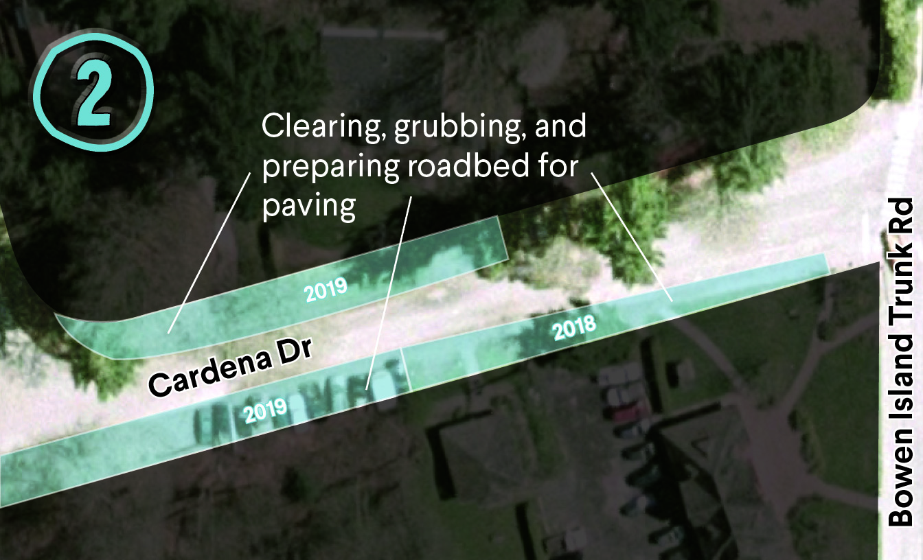 Road widening of Cardena will take place in 2018 and 2019