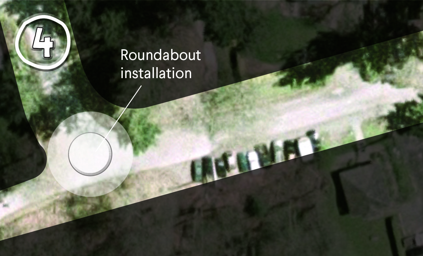 Installation of a roundabout